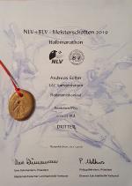 NLV-/BLV Meisterschaften Halbmarathon, Neuenkirchen, 16.11.2019